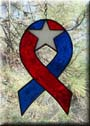 Red White and Blue Star Ribbon